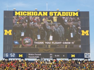 Lima Lima Pilots on the Jumbotron